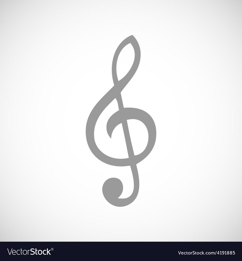 Treble clef black icon vector | Price: 1 Credit (USD $1)