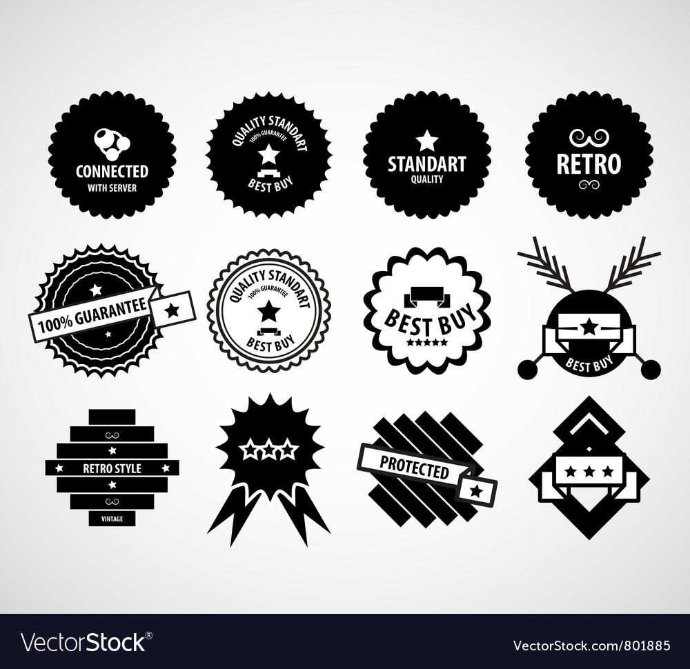 Vintage retro labels vector | Price: 1 Credit (USD $1)
