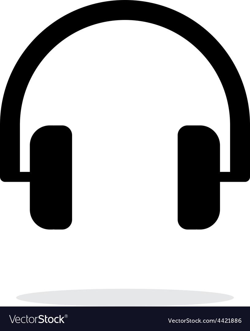 Audio headphones icon on white background vector | Price: 1 Credit (USD $1)