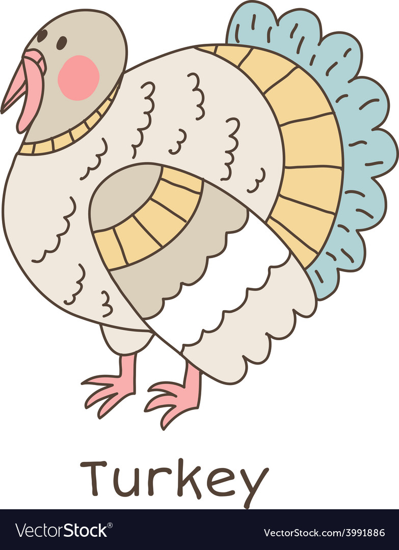 Lineart turkey vector | Price: 1 Credit (USD $1)