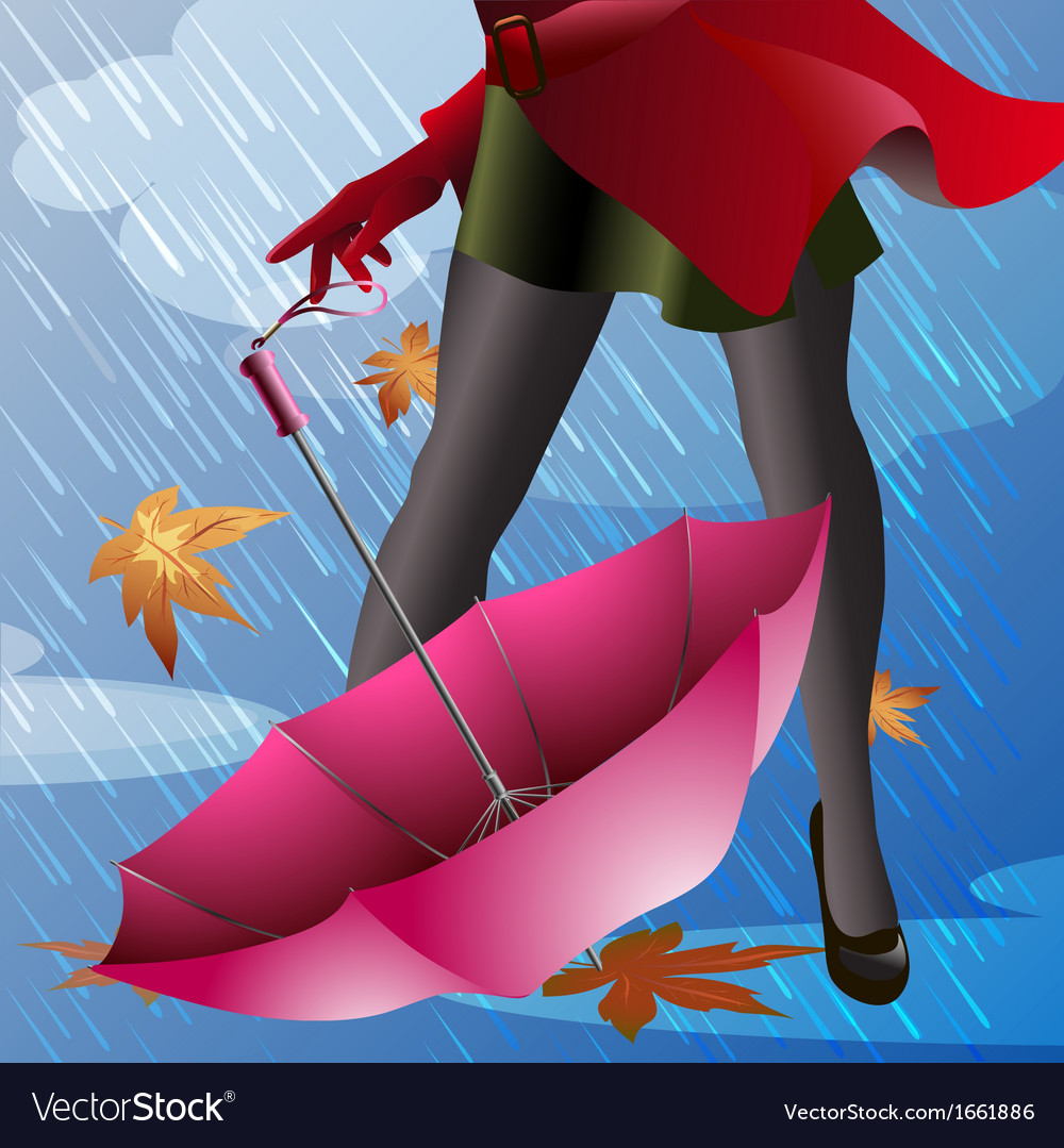 Pink umbrella vector | Price: 1 Credit (USD $1)