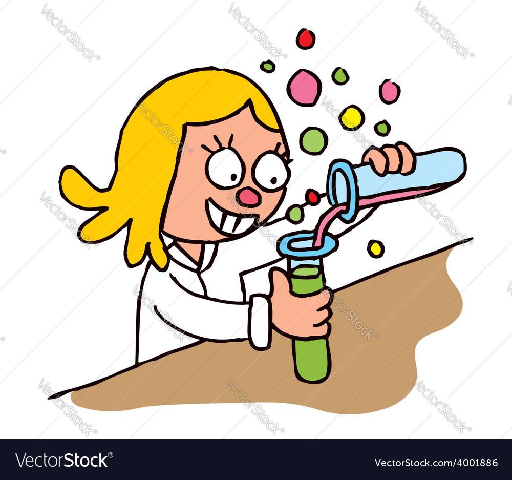 Schoolgirl chemistry test vector | Price: 1 Credit (USD $1)