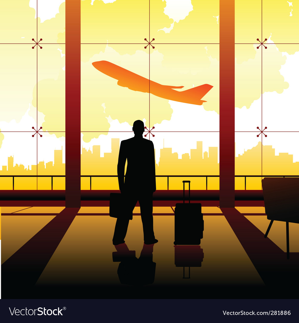 Waiting at the airport vector | Price: 1 Credit (USD $1)