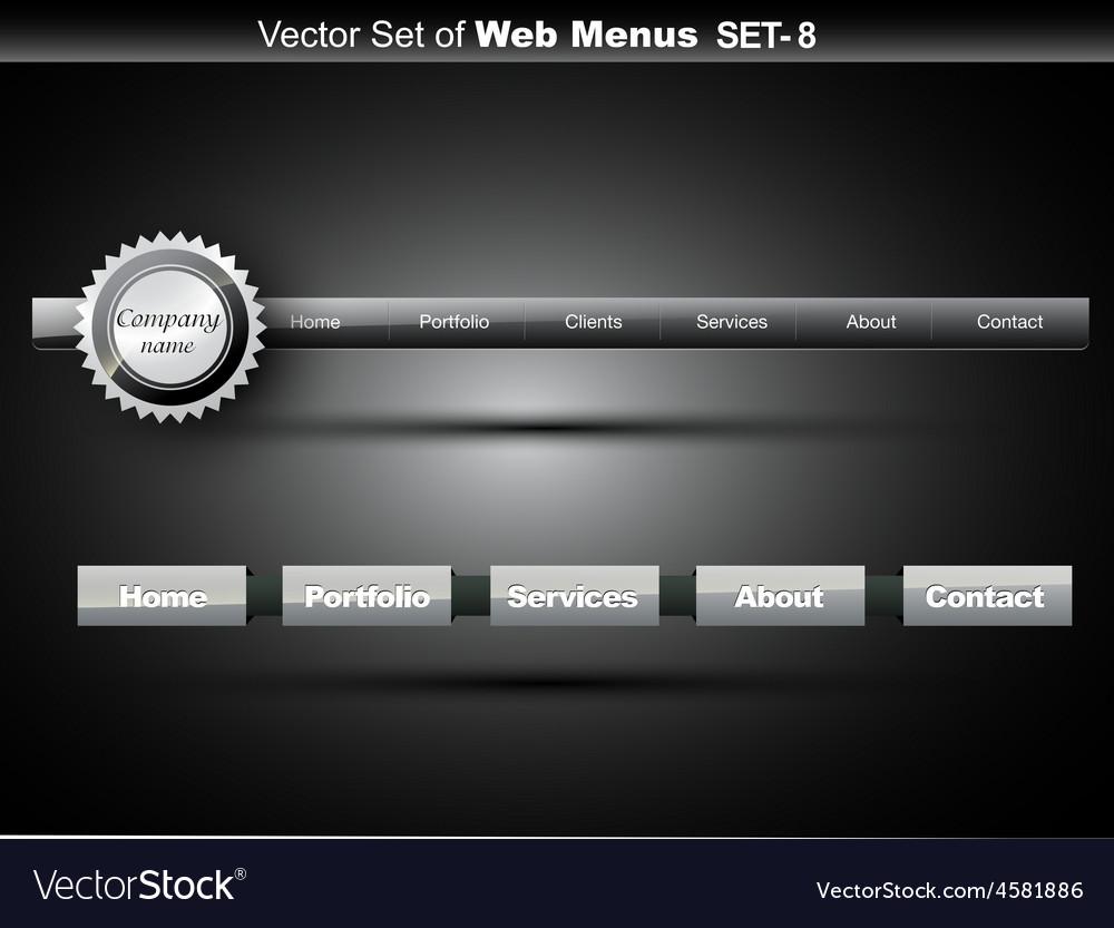 Website menu vector | Price: 1 Credit (USD $1)