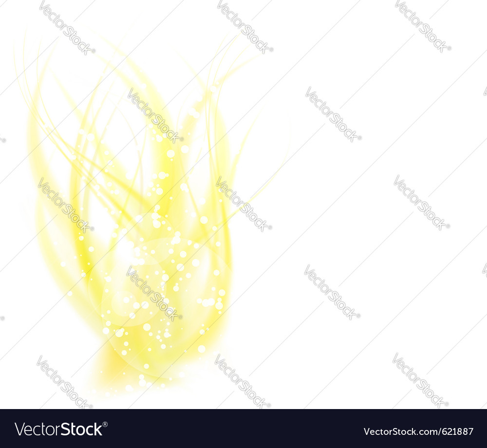 Abstract golden flame vector | Price: 1 Credit (USD $1)