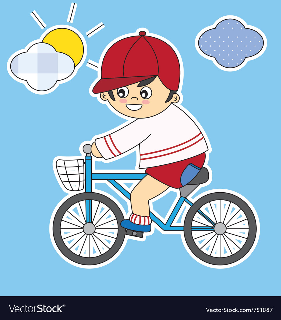 Child bicycle vector | Price: 1 Credit (USD $1)