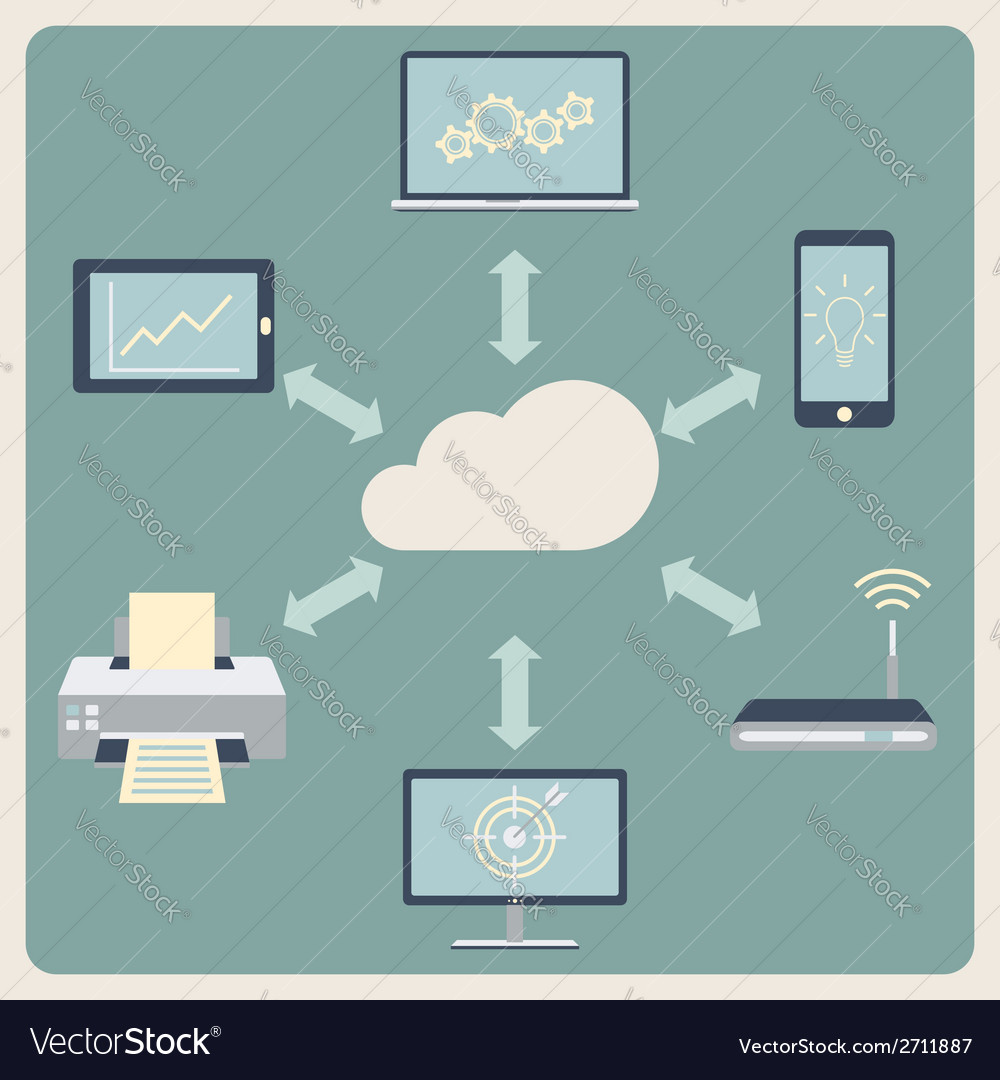 Cloud computing technology abstract background vector | Price: 1 Credit (USD $1)