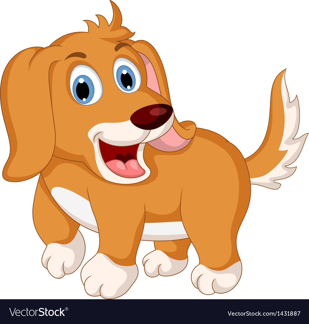 Cute little dog cartoon expression vector | Price: 1 Credit (USD $1)