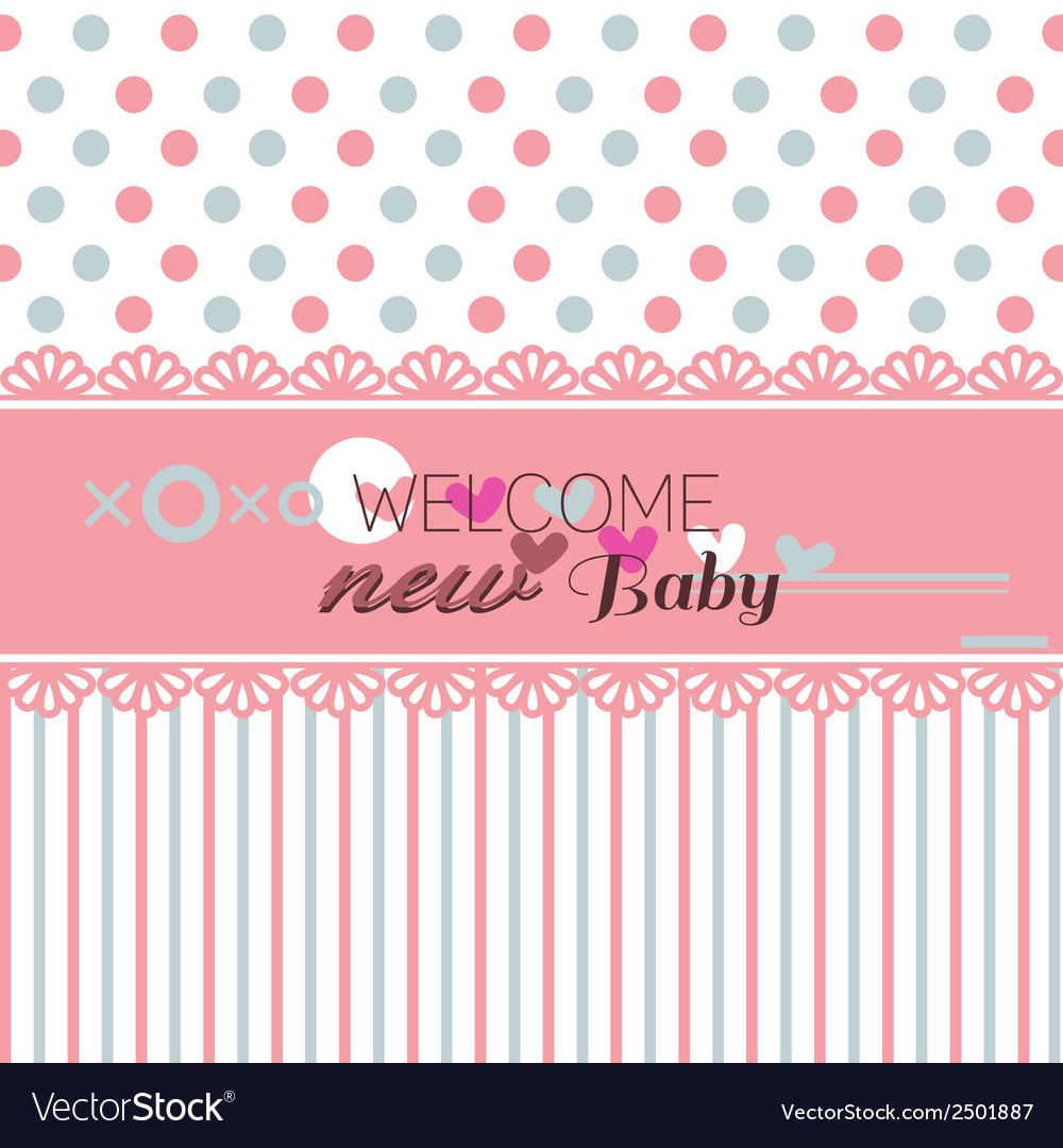Cute welcome baby shower vector | Price: 1 Credit (USD $1)