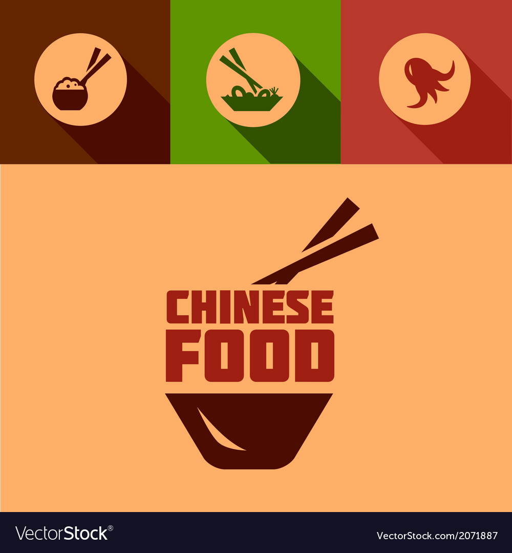 Flat chinese food design vector | Price: 1 Credit (USD $1)