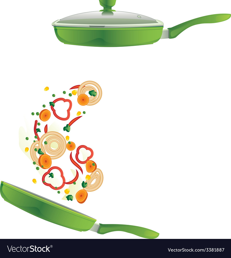 Frying pan vector | Price: 1 Credit (USD $1)