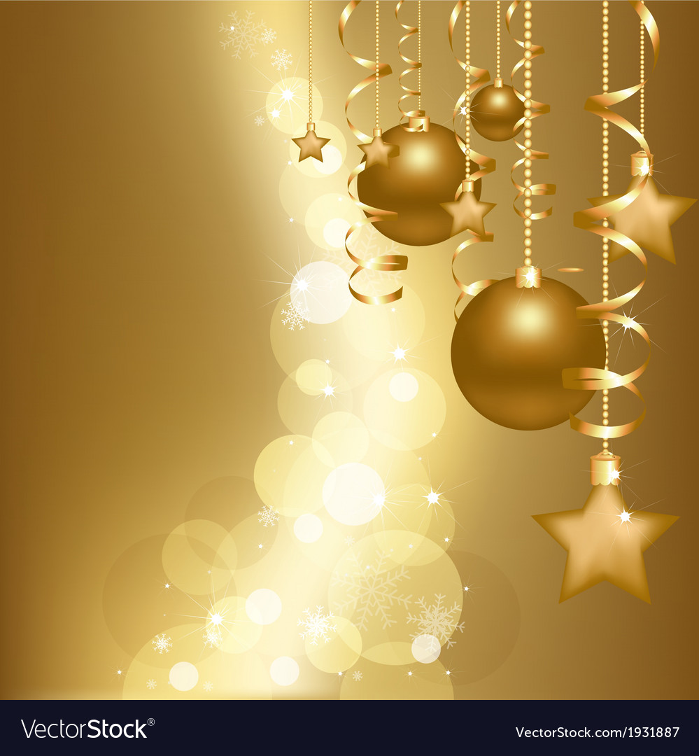 Gold christmas card vector | Price: 1 Credit (USD $1)