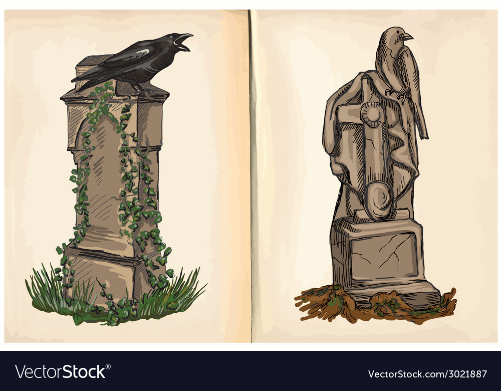 Graves - hand drawings vector   Price: 1 Credit (USD $1)