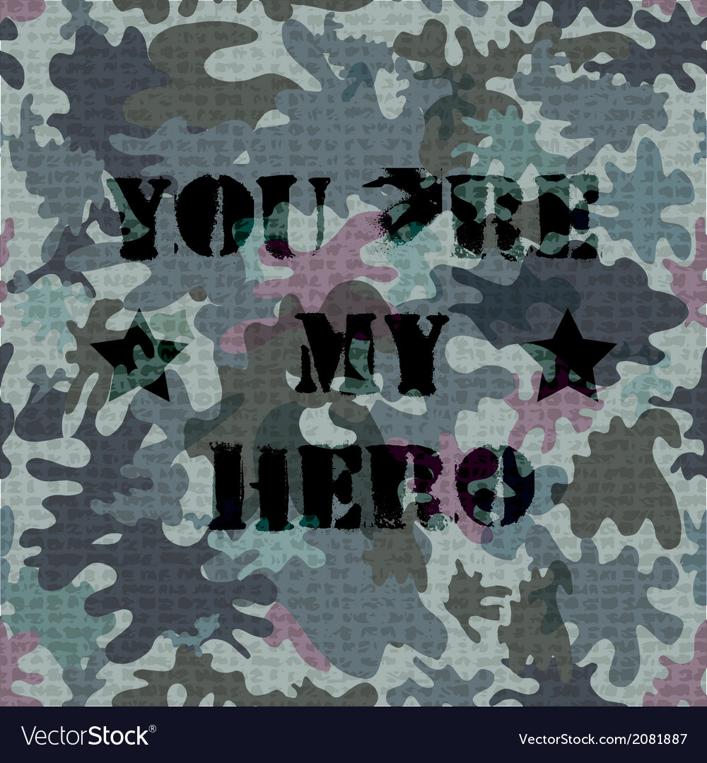 Military seamless background with text vector | Price: 1 Credit (USD $1)