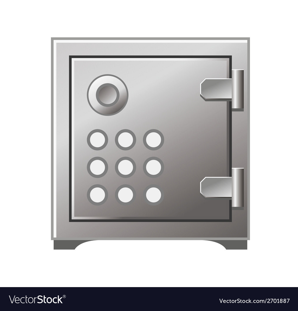 Safe box icon iron stainless vector | Price: 1 Credit (USD $1)