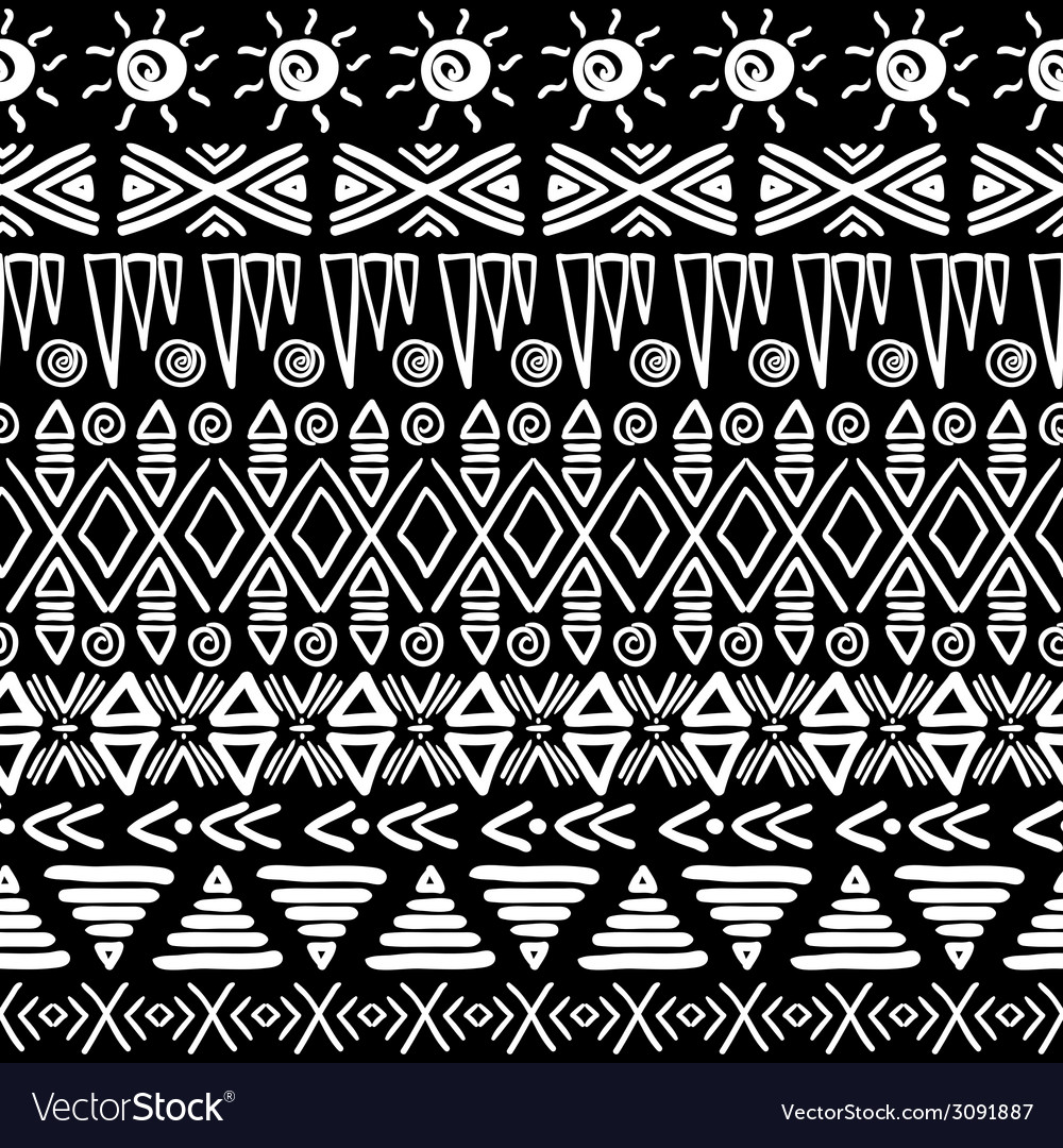 Seamless aztec pattern vector | Price: 1 Credit (USD $1)