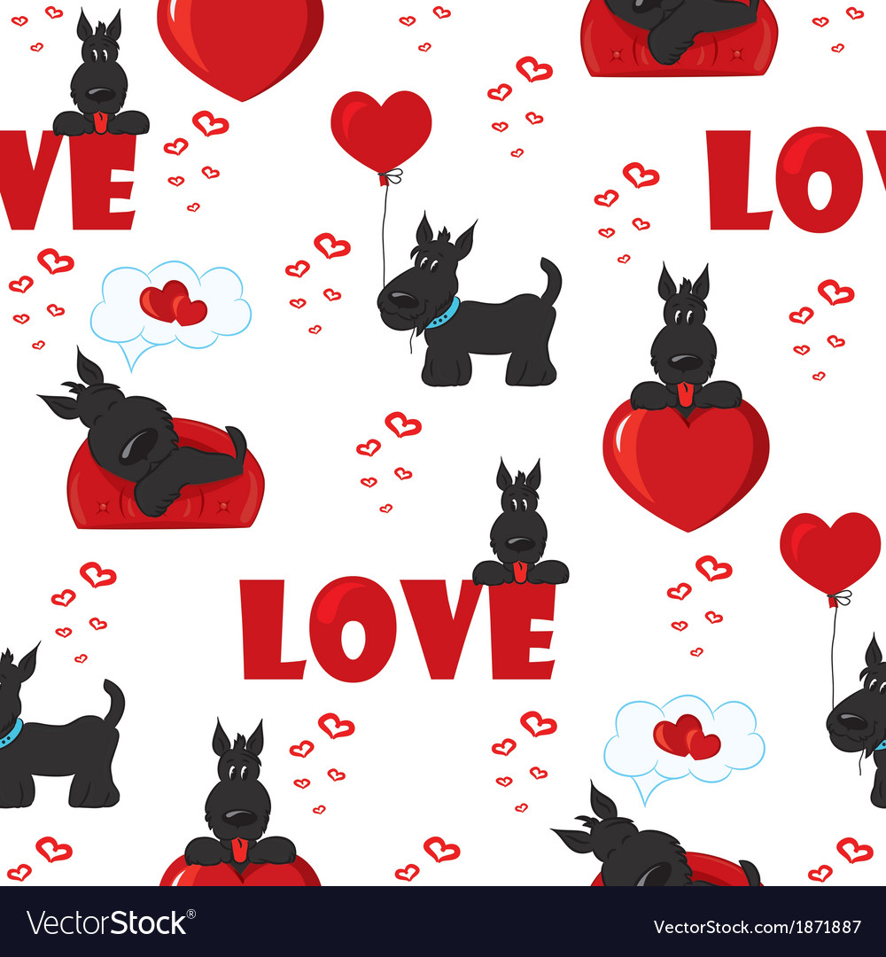 Seamless with black dogs vector | Price: 1 Credit (USD $1)