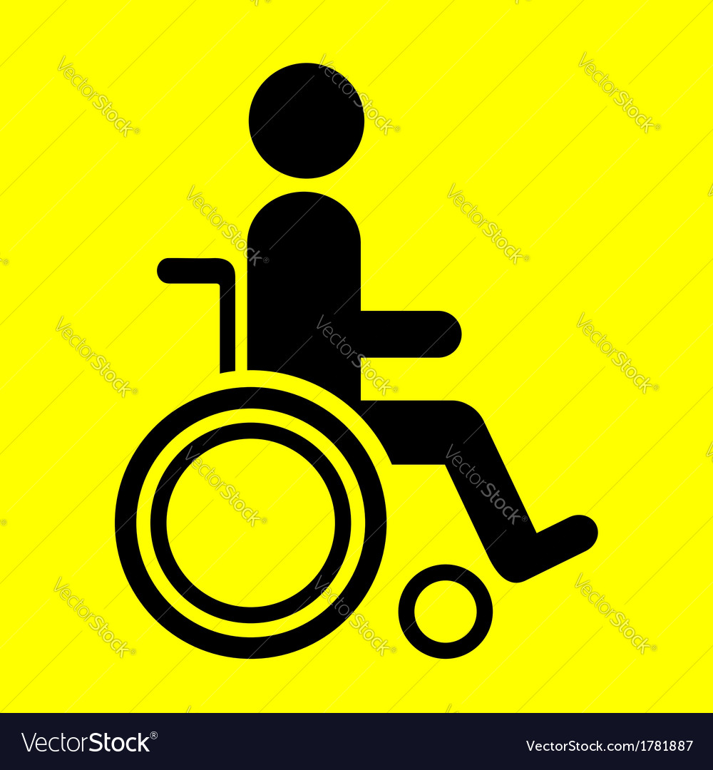 Sign wheelchair vector | Price: 1 Credit (USD $1)