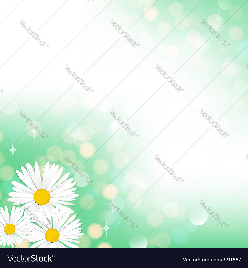 Spring green bokeh background vector | Price: 1 Credit (USD $1)