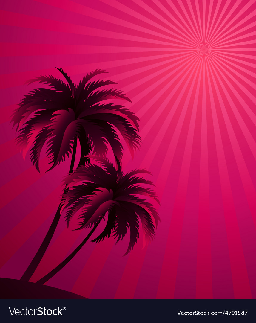 Sunset background vector | Price: 1 Credit (USD $1)