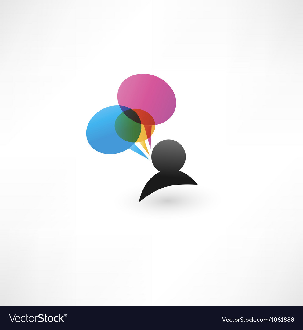 Abstract talking bubble vector | Price: 1 Credit (USD $1)
