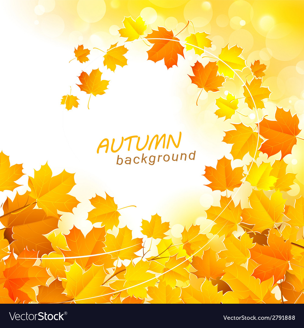 Autumn leaf fall background vector | Price: 1 Credit (USD $1)