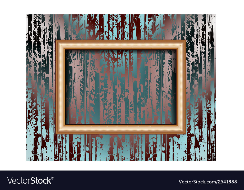 Blank frame on a colored wall lighting spotlights vector   Price: 1 Credit (USD $1)