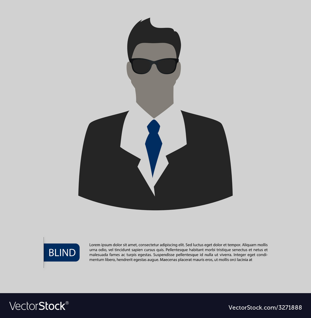 Blind man silhouette image vector | Price: 1 Credit (USD $1)