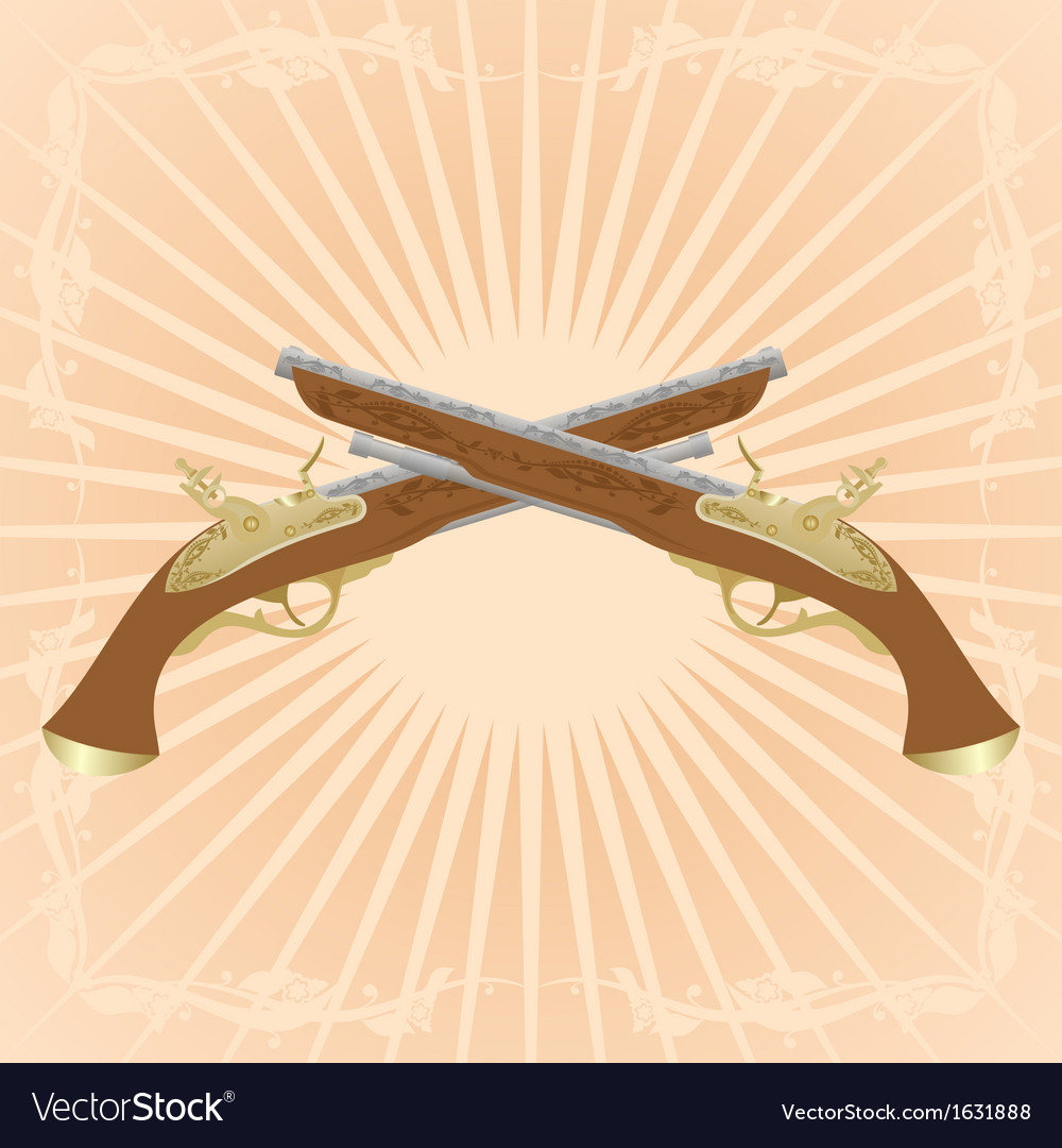 Dueling pistols vector | Price: 1 Credit (USD $1)