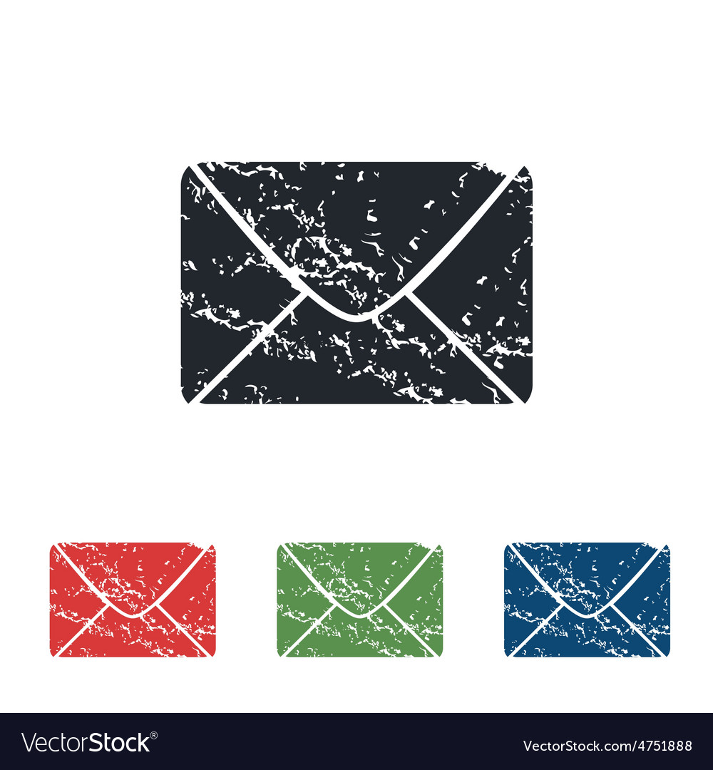 Letter grunge icon set vector | Price: 1 Credit (USD $1)