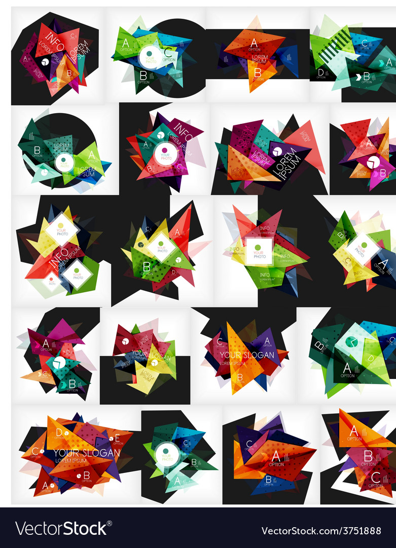 Mega collection of abstract geometric vector   Price: 1 Credit (USD $1)