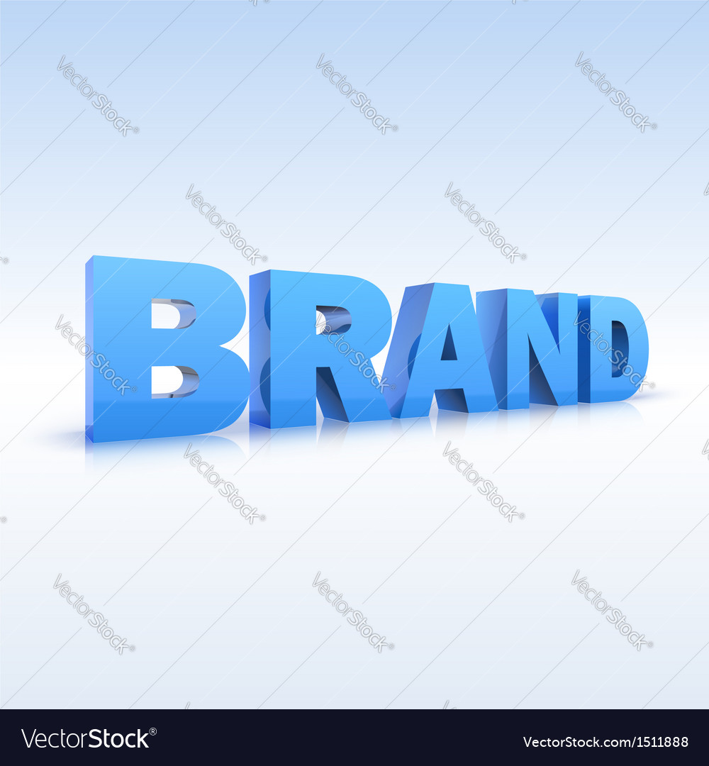 The word brand volumetric three-dimensional vector | Price: 1 Credit (USD $1)