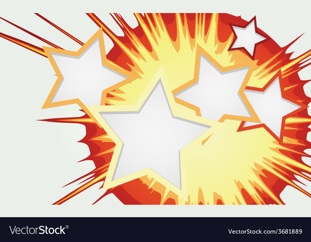 Abstract background of color star burst vector | Price: 1 Credit (USD $1)