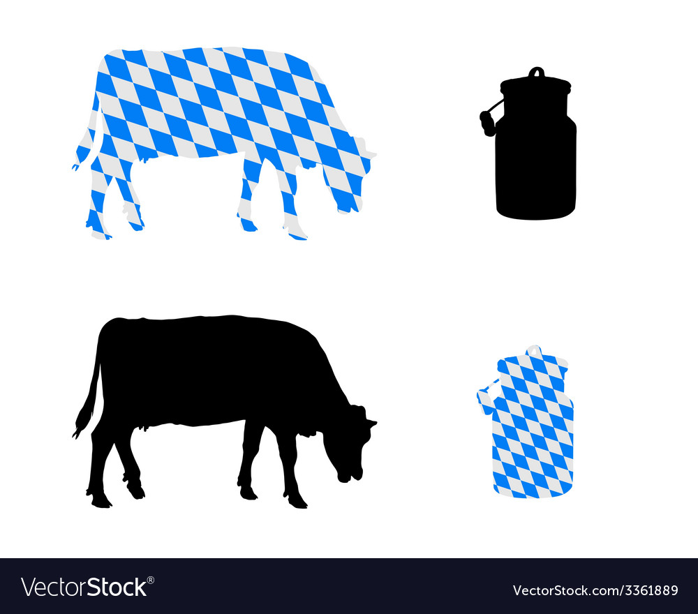 Bavarian milk cow vector | Price: 1 Credit (USD $1)