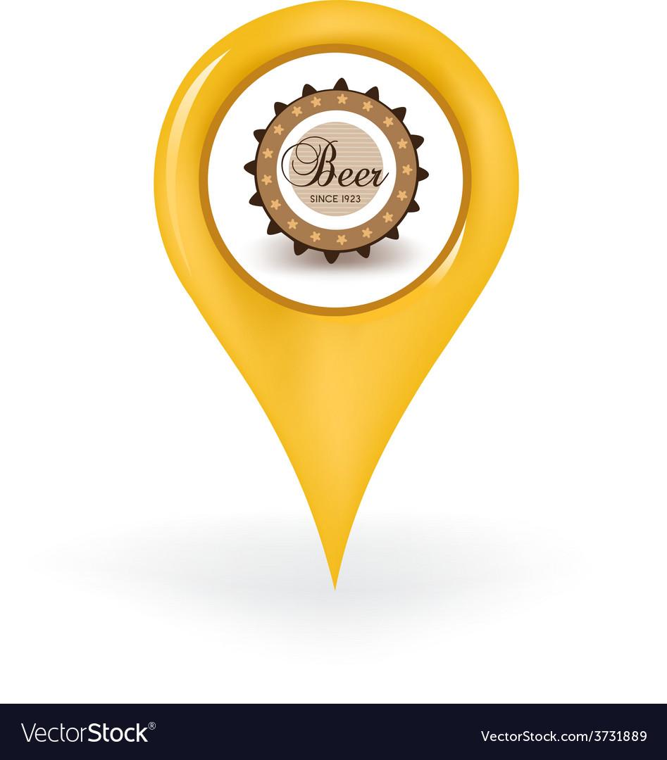 Beer location vector | Price: 1 Credit (USD $1)