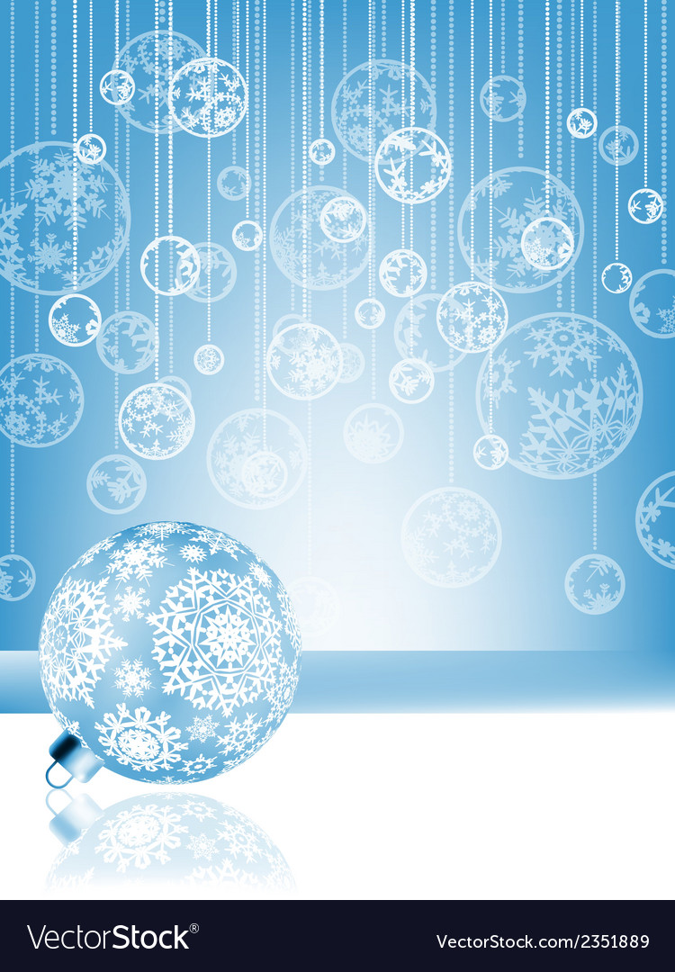 Blue christmas card with baubles  eps 8 vector | Price: 1 Credit (USD $1)