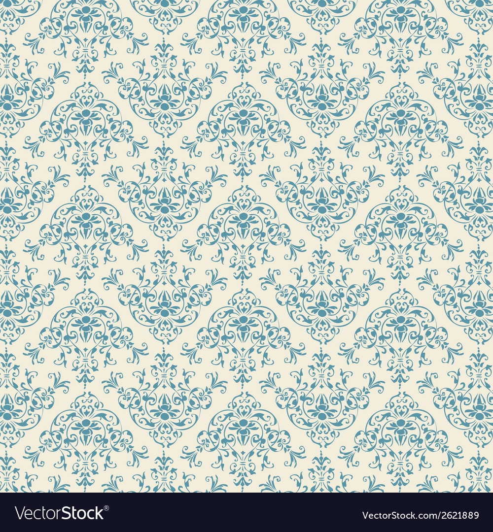 Blue damask vector | Price: 1 Credit (USD $1)