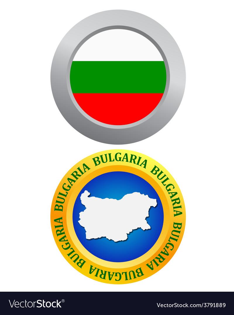 Button as a symbol of bulgaria vector | Price: 1 Credit (USD $1)