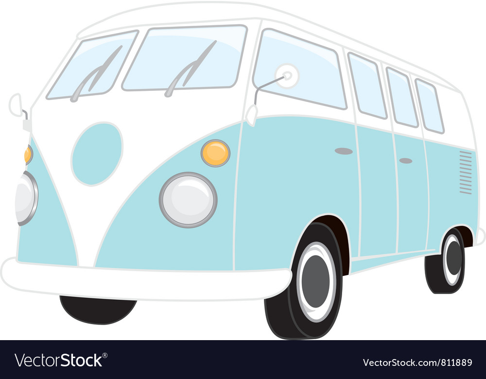 Camper van retro vector | Price: 1 Credit (USD $1)