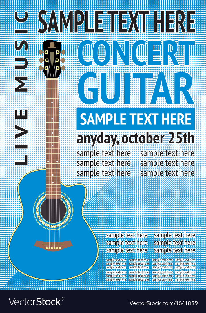 Concert guitar vector | Price: 1 Credit (USD $1)
