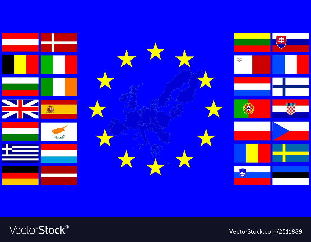 Flags of the european union vector | Price: 1 Credit (USD $1)
