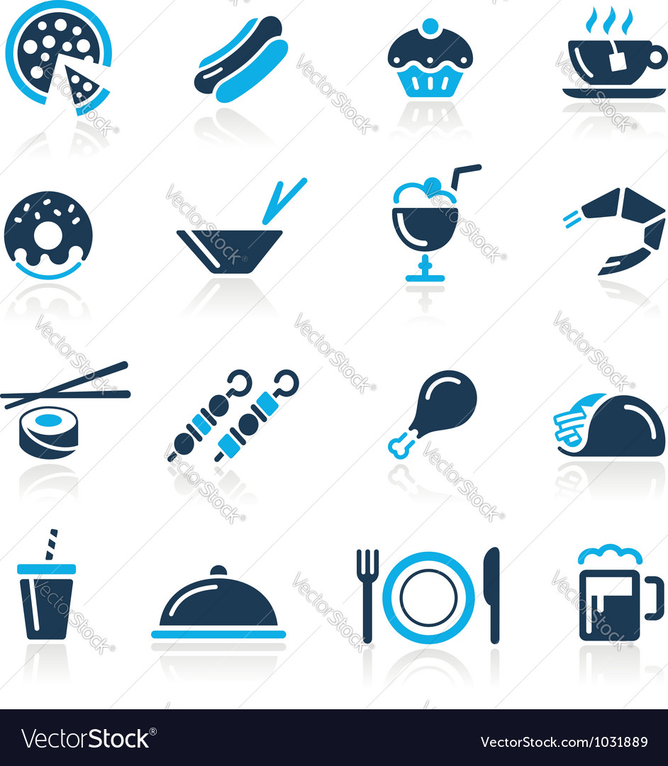 Food icons 2 azure series vector | Price: 1 Credit (USD $1)