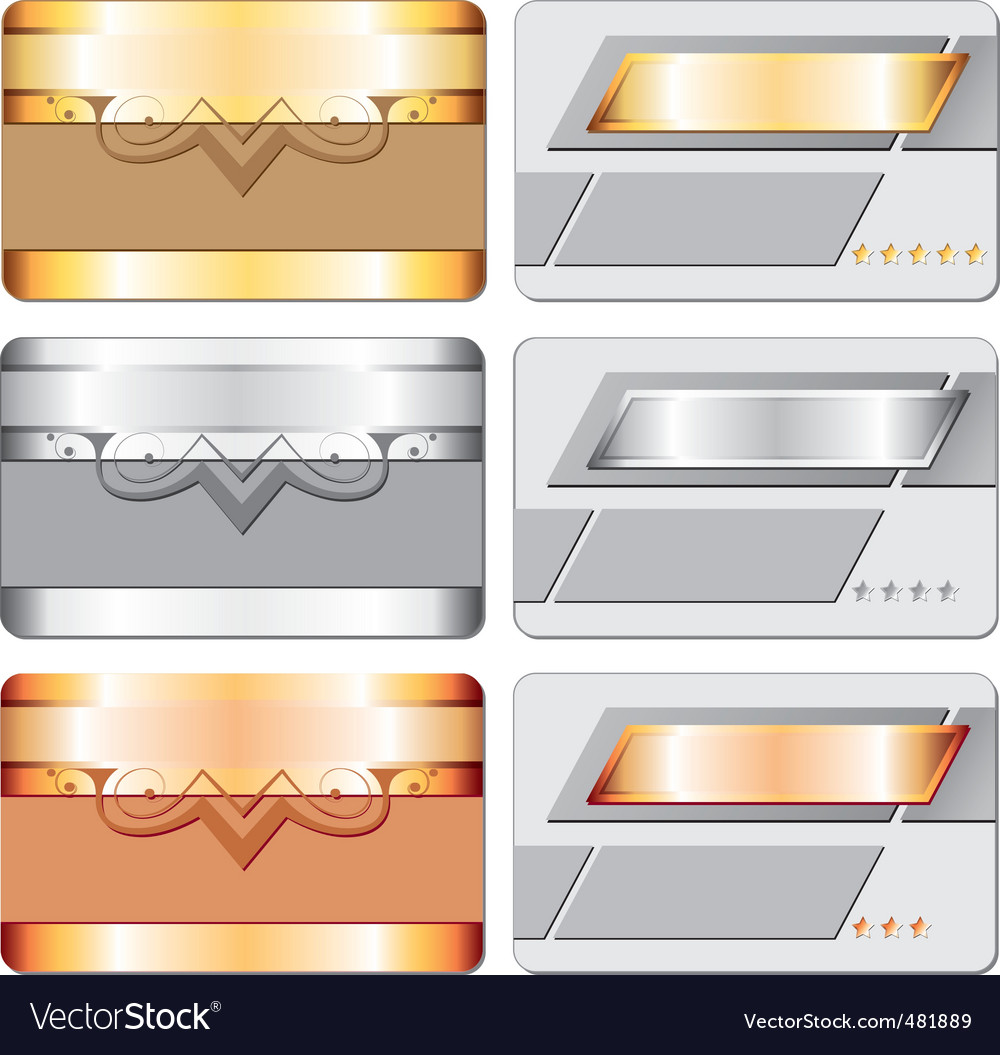 Metal cards vector | Price: 1 Credit (USD $1)