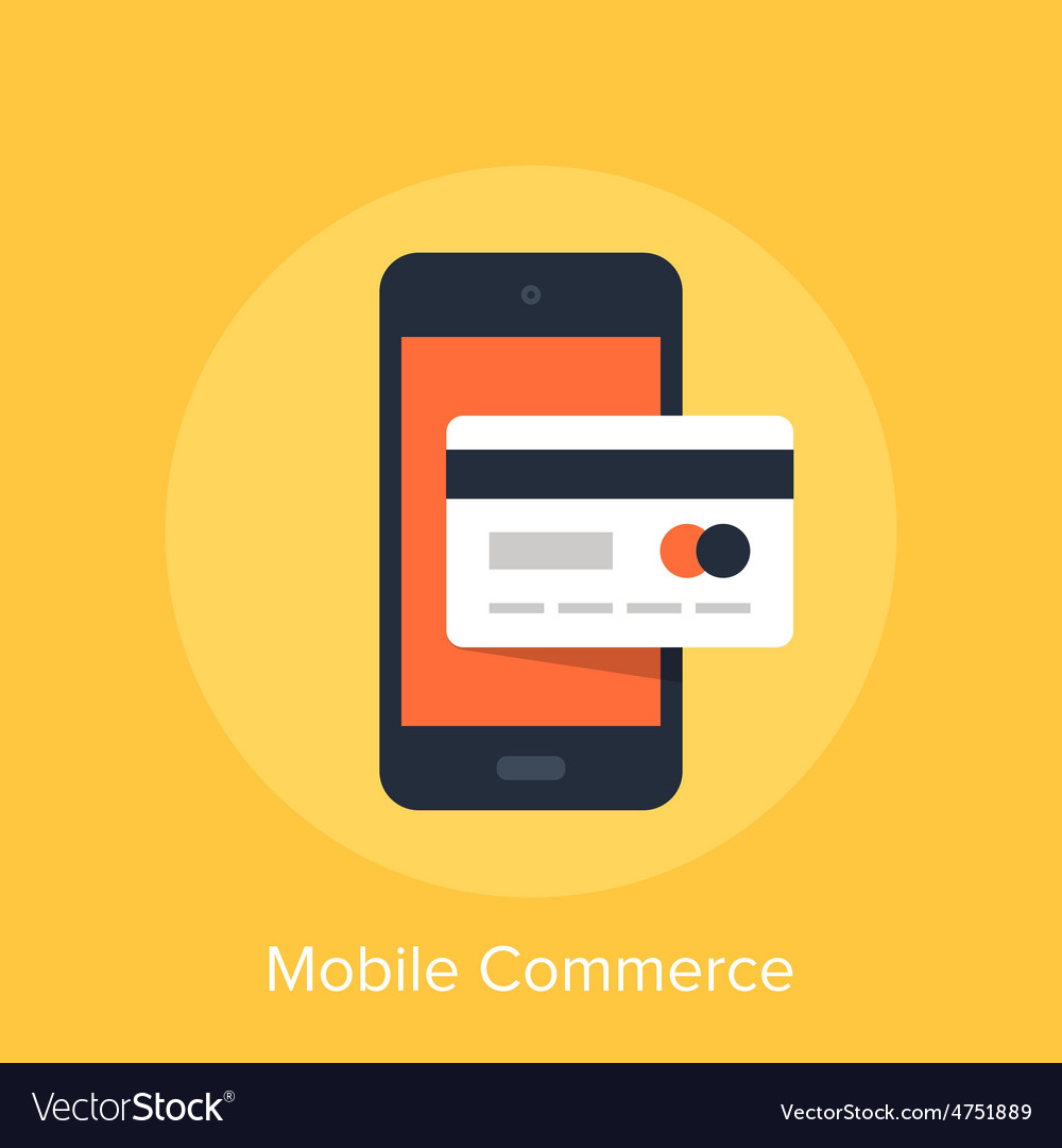 Mobile commerce vector   Price: 1 Credit (USD $1)
