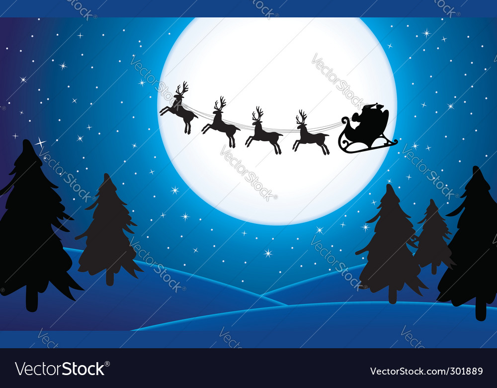 Santa background vector | Price: 1 Credit (USD $1)