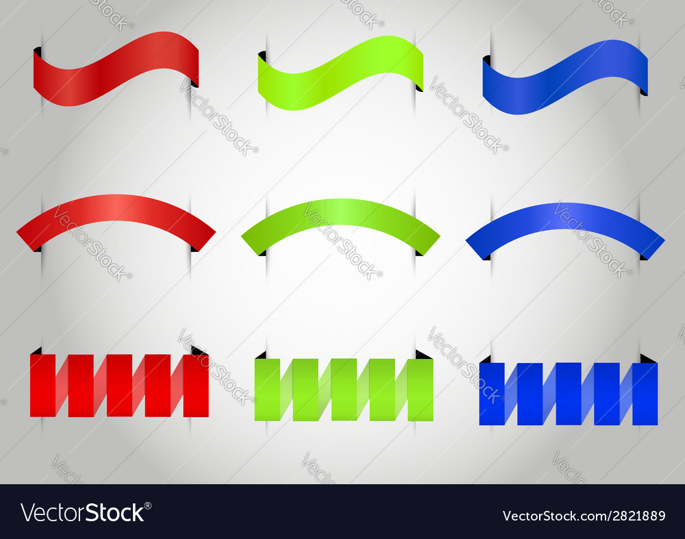 Three style ribbon set vector | Price: 1 Credit (USD $1)