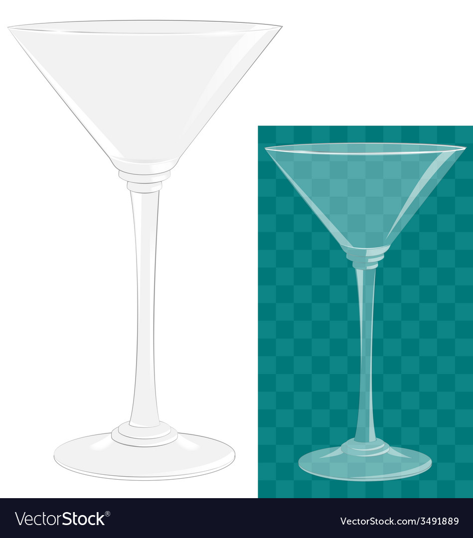 Transparent isolated martini glass vector | Price: 1 Credit (USD $1)