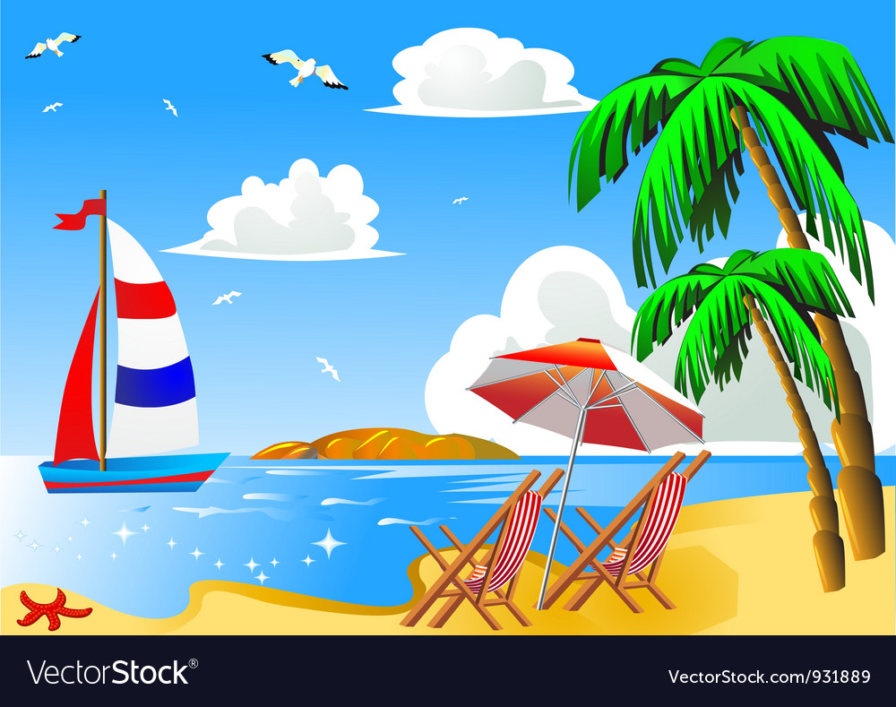 Vacation background vector | Price: 1 Credit (USD $1)