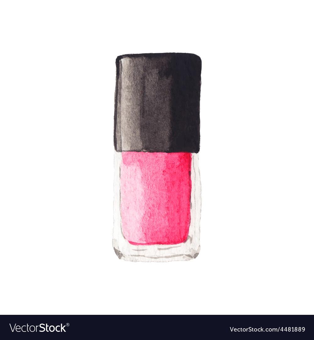 Watercolor nail polish aquarelle vector | Price: 1 Credit (USD $1)