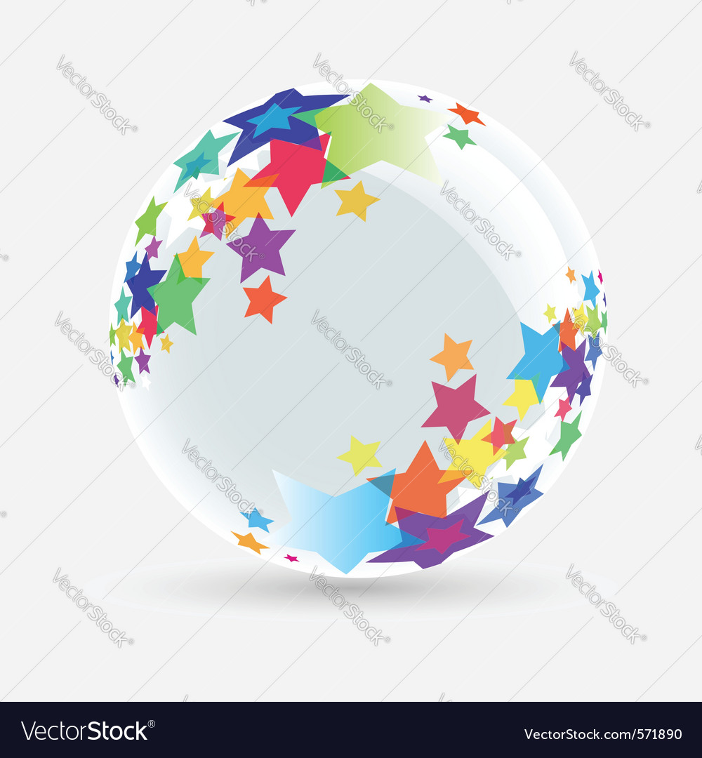 Ball with stars vector | Price: 1 Credit (USD $1)